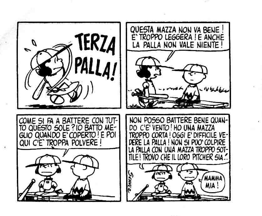 Peanuts Lucy e baseball
